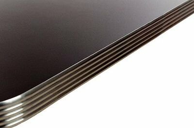 Oak Street Milled Aluminum Edge Table Top with Black Laminate 36in Length x 36in