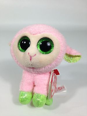 """TY Beanie Boo Boos Basket Beanie Babs The Pink Lamb 3"""" Easter 2014"""