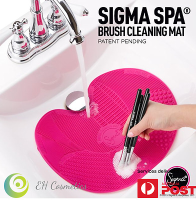 100% Authentic Genuine Sigma Spa Brush Cleaning Pad/Medium Cleaning Mat