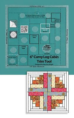 "Creative Grids Non-Slip Curvy Log Cabin Trim Tool for 6"" Finished Blocks"