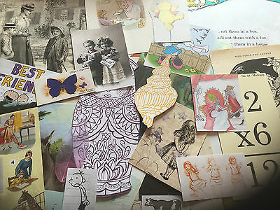 Vintage Ephemera Pack 30+ pieces. 'children' Crafts,scrapbooking,decoupage,