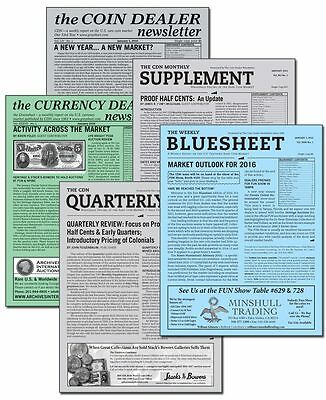 Coin Dealer Newsletter - 7 Current Issues (Save $19!) Over 90 pages ** FREE SHIP