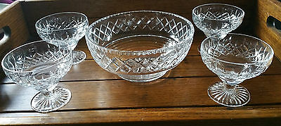 Vintage Stuart Crystal Sweet Set For 4