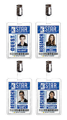 The Flash STAR LABS ID Badge Cosplay Film Prop Barry Allen Comic Con Comic Con