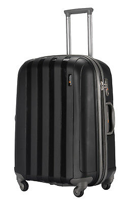 "Luggage X 77 cm (30"") Suitcase Extra Large Lightweight Hard Sided Black"