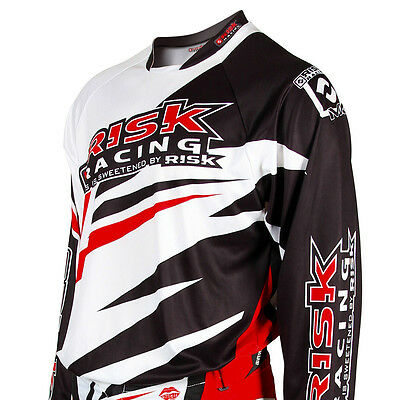 Risk Racing Vector Jersey / Top motocross enduro White / Black - Extra Large