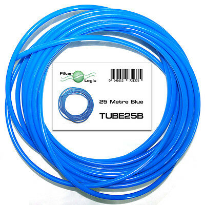 "25 Metres 1/4"" 6.4mm OD LDPE tubing pipe for RO Systems & fridge water filters"