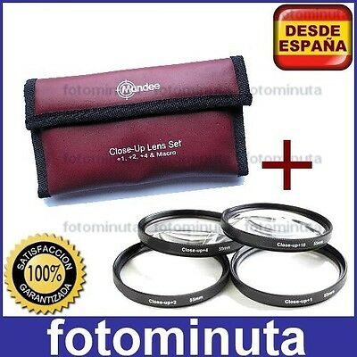 Kit Set 4 Lentes Filtro Macro Aproximacion 58mm +1 +2 +4 +10 Close-Up Lens
