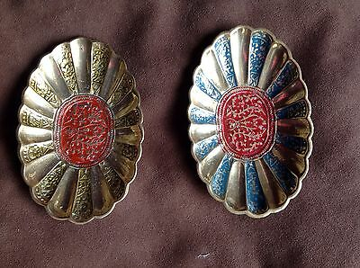 Pair Of Oriental Brass Dishes