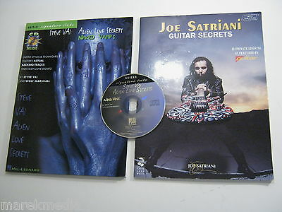 Steve Vai - Joe Satriani - Tab Books + CD - Alien Love Guitar Licks Secrets