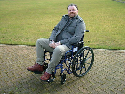 Extra Wide Bariatric Wheelchair 22 Inch Seat Width In Damaged Box