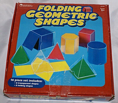 Learning Resources Folding Geometric Shapes Cube Sphere Pyramid Colorful