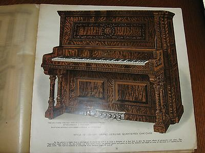 "Wing & Sons Sales Book - Player Piano - Color Photos Large Format 12"" X 11"""