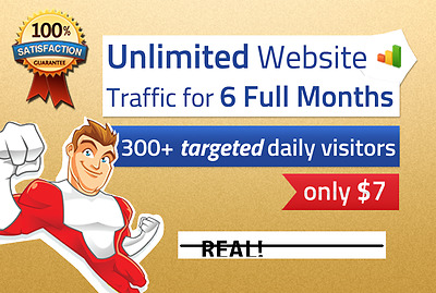 UNLIMITED genuine real Website TRAFFIC+for+6+months