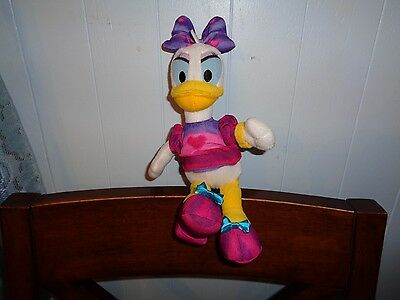 Disney Just Play Daisy Duck Friend Of Minnie Mouse Tie Dye Plush Doll Figure