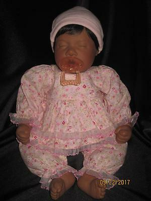 Lee Middleton SLEEPING FIRST BORN BABY Doll African American Weighted #081094