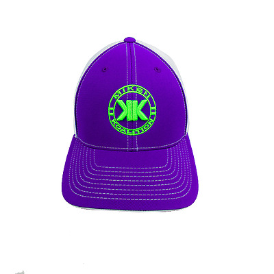 Miken Koalition Hat by Pacific 404M PURPLE/WHITE/PURP/NEON GRN Youth(6 3/8-6 7/8