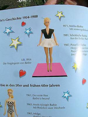 #25 Mattel Swiss Barbie Exhibition Flyer 1989 with Bild Lilli Doll Pictured