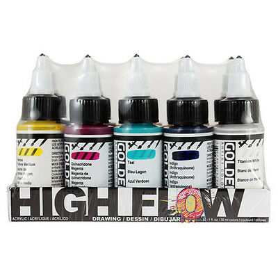 Golden High Flow Acrylic Ink / Paint 10 x 30ml Drawing Set