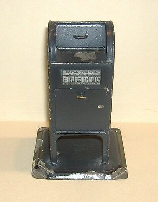 1925-1932 BING MAILBOX. Large German Trains. All Metal US Post Office Box