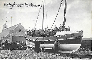 Walmer crew & lifeboat civil service 4 & crowd Kent