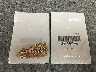 100 GARMIN HIGH DENSITY MALE CONTACTS P/N 336-00021-00 Gold Plated Crimp Pins