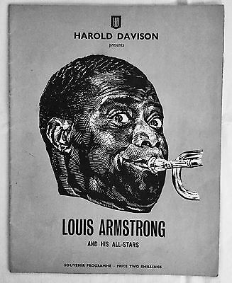 LOUIS ARMSTRONG at the Newcastle Odeon Theatre. 1959.  Programme.