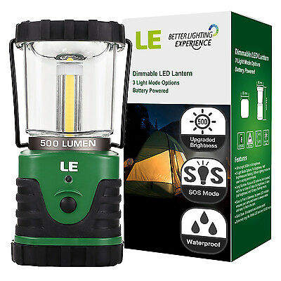 LE 500lm PRO Camping LED Lantern Super Bright 3 Modes Light Waterproof Lamp UK