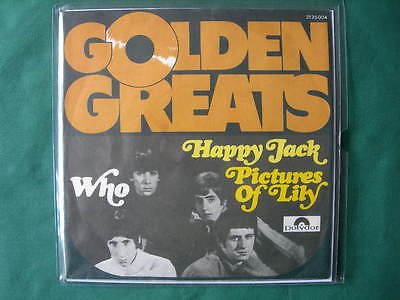 """The Who -""""happy Jack""""""""pictures Of Lily"""" 7"""" Rare Germany Pressing 1976 Mod Mint-"""