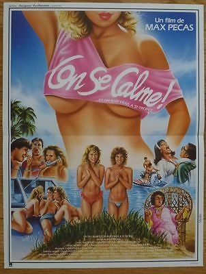 ON SE CALME, ON BOIT FRAIS A ST-TROPEZ 1987 Affiche Originale 40x50 Movie Poster