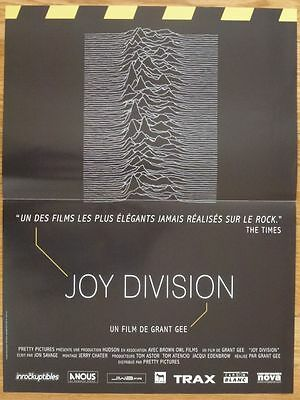 JOY DIVISION Grant Gee Richard Boon 2007 Affiche Originale 40x55 Movie Poster
