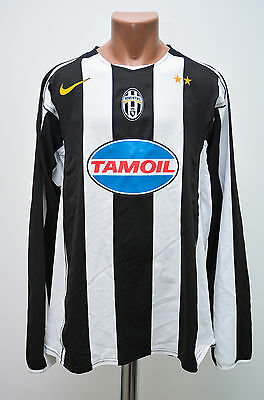 Juventus Italy 2004/2005 Player Issue Football Shirt Jersey Nike Long Sleeve
