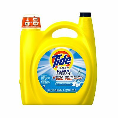 Tide Simply Clean & Fresh HE Liquid Laundry Detergent Refreshing Breeze S... New