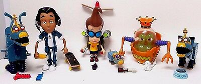 Jimmy Neutron Nickelodeon Action Figure Toy LOT OF 6 + ACCESSORIES!  Viacom 2001