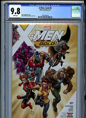 X-Men Gold #1 (2017) Marvel CGC 9.8 White Pages Ardian Syaf