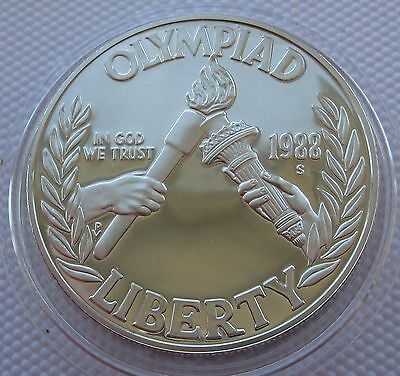 Usa 1 Dollar, 1988-S Coin Seoul Olympics Silver Proof