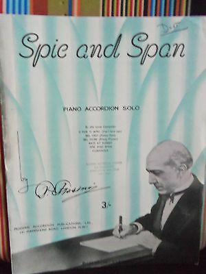 Spic & Span (Duet) By Pietro Frosini Accordion Solo Sheet Music