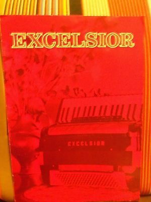 1960's EXCELSIOR ACCORDION (NEW YORK) FULL COLOR CATALOG * EXTREMELY RARE