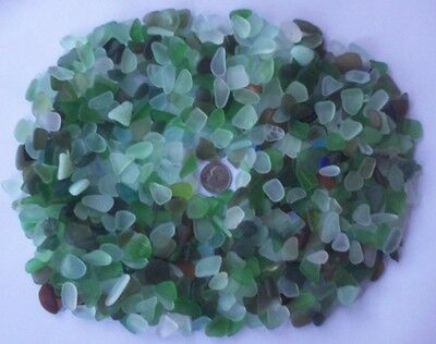 Beach Sea Glass Surf Tumbled Small Mixed Colors Lot Over 500 Pieces