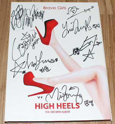 Brave Girls HIGH HEELS 3rd Mini Album K-POP REAL SIGNED AUTOGRAPHED PROMO CD
