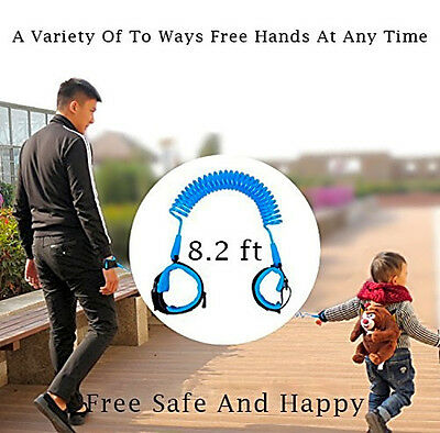 JINSEY Safety Child Anti Lost Wrist Link Harness Strap Rope Leash Walking Hand B