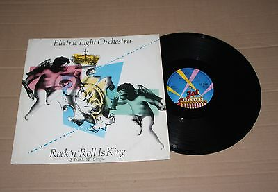 "ELO - Rock 'n' Roll Is King, 12"" vinyl single UK 1983 (TA 3500) Pop Rock Vg+"