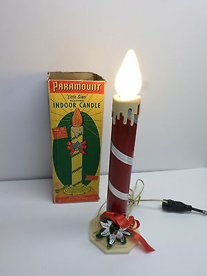 """Vintage CHRISTMAS 17"""" PARAMOUNT """"LITTLE GIANT"""" LIGHTED INDOOR CANDLE - No. 121"""