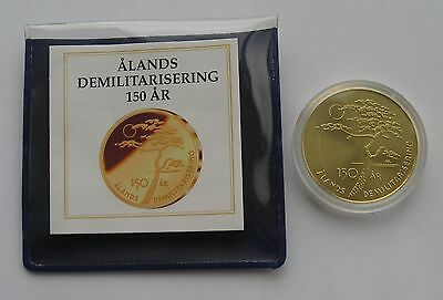 Finland 5 Euro 2006 Aland Demilitarization 150 years UNC Mint Package COA !!!