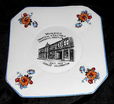 1936 Wooldale Co op Cooperative Society Windsor China Commemorative Plate