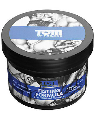 Tom of Finland Fisting Cream Numbing Desensitizing Lubricant J-Lube