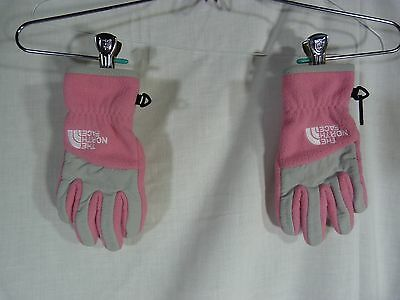 North Face Kids Pink Winter Gloves Size Small Fleece