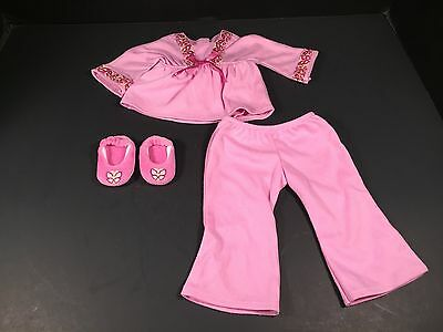 American Girl Doll Julie Pajamas Butterfly Slippers Retired