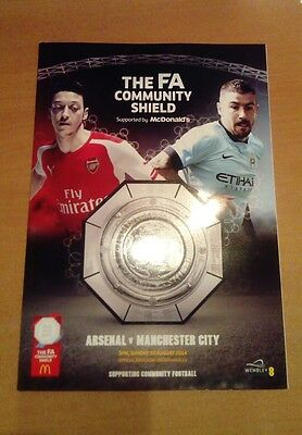 Arsenal v Manchester City FA Community Shield programme 10/08/2014