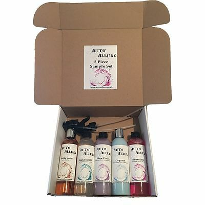 auto allure 4 piece detailing sample kit (wash polish and protect)